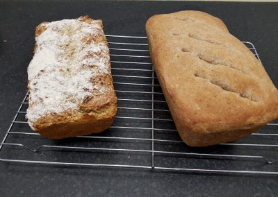Image of 2 bread loaves made by a CWCDA Accelerate participant