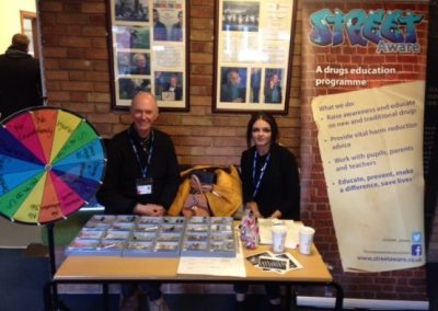Street Aware Awareness stand at King Edward College