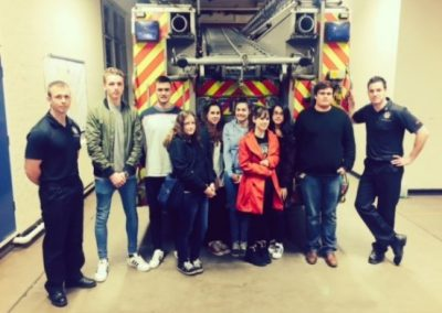 Street Aware Youth Ambassadors at Fire Services Safety Training
